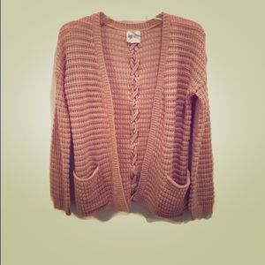 Blush Pink Open Criss Cross Cardigan